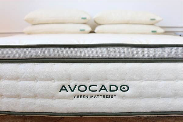 avocado green mattress front view