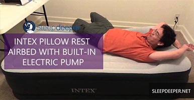 INTEX PILLOW REST AIRBED WITH BUILT-IN ELECTRIC PUMP REVIEW