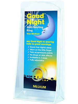 Good Night Sterling Silver Anti-Snoring Ring
